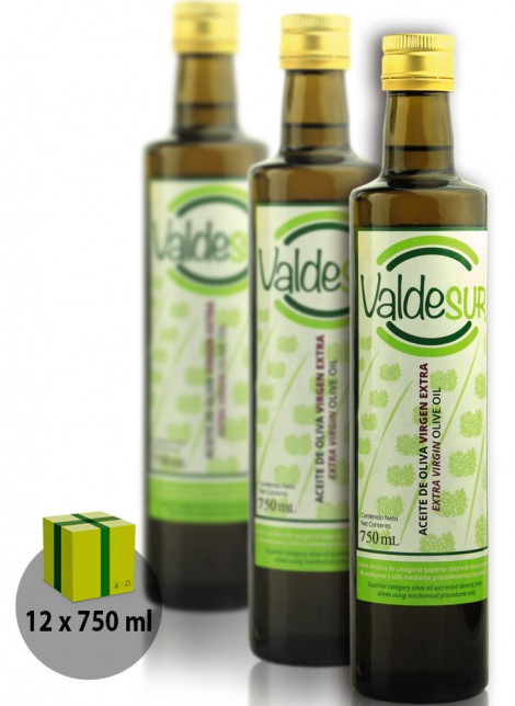 9527a8902dc Aceite de Oliva Virgen Extra Valdesur Caja 12 botellas Vidrio 750 ml ...
