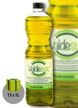 Aceite de Oliva Virgen Extra Valdesur Caja 15 botellas PET 1 litro