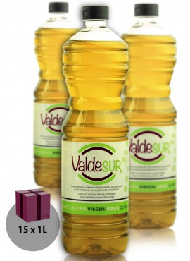 Aceite de Oliva Virgen Valdesur Caja 15 botellas PET 1 litro