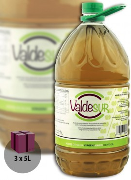 Aceite de Oliva Virgen Valdesur Caja 3 botellas PET 5 litros