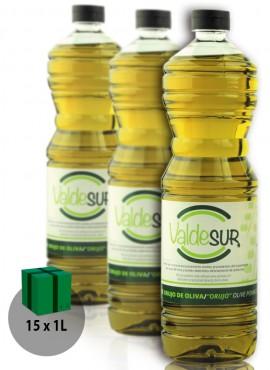Aceite de Orujo de Oliva Valdesur Caja 15 botellas PET 1 litro