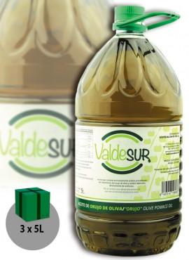 Aceite de Orujo de Oliva Valdesur Caja 3 botellas PET 5 litros