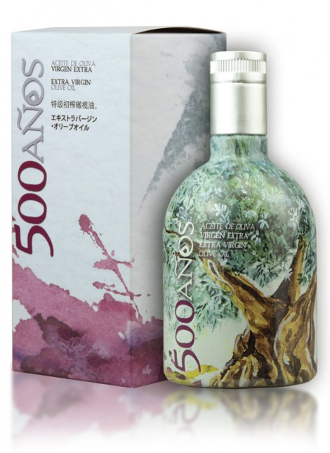 Aceite de Oliva Virgen Extra 500Años Botella Individual 500ml con estuche