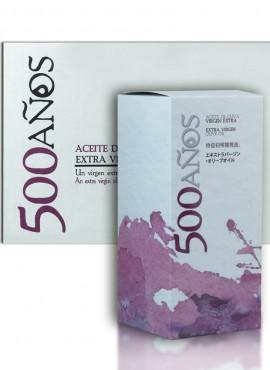 Aceite de Oliva Virgen Extra 500Años Caja 6 Botellas 500ml + estuche
